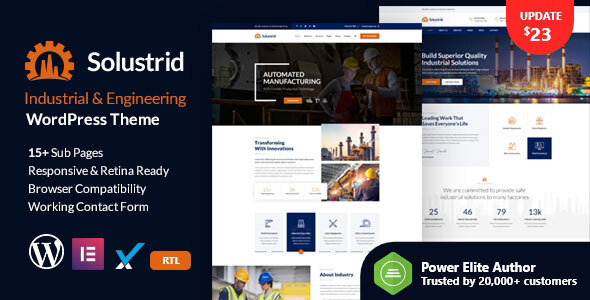 Solustrid - Factory & Industrial Business WordPress Theme