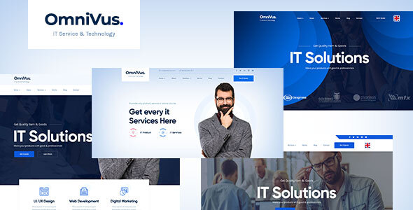 Omnivus    Technology IT Solutions & Services PSD Template