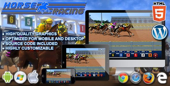 Wyścigi konne - gra kasynowa HTML5