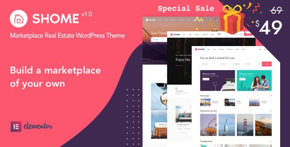 SHome | Marketplace Real Estate WordPress Theme