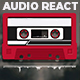 Audio React Spectrum Visualizer with Boombox, Cassette Tape, Vinyl Plate and Vinyl Player Equalizer - VideoHive Item for Sale