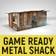 Corrugated Steel Shed - Rusty Metal Shack Pack Low-poly 3D model - 3DOcean Item for Sale