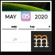 Wall Calendar 2020 - GraphicRiver Item for Sale
