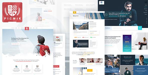 Picwik - University & Coaching WordPress Theme