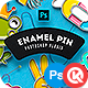 Enamel Pin - GraphicRiver Item for Sale