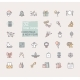 Christmas and New Year Symbols Linear Icons - GraphicRiver Item for Sale