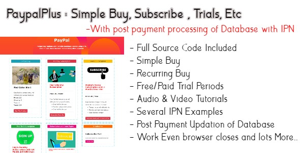 PaypalPlus | Buy and Subscribe With Database Update