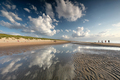 beautiful sky over North sea beach on sunnyy day - PhotoDune Item for Sale