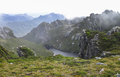 Low Clouds Fill the Mountains of the Western Arthurs in Tasmania - PhotoDune Item for Sale
