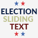 Election Sliding Text - VideoHive Item for Sale