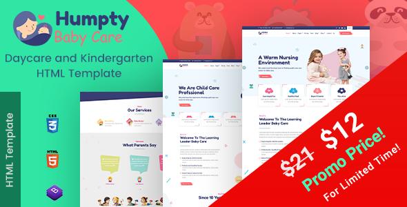 Humpty | Daycare&PreschoolHTML Template