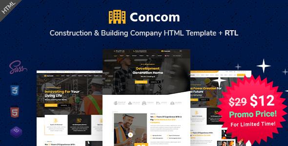Concom - Construction & Building Company HTML Template