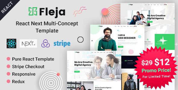 Fleja | React Next Multi-Concept Template