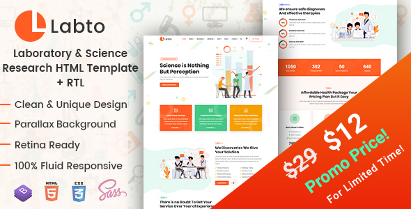 Labto - Laboratory & Science Research HTML Template