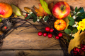 Fall wreath with pumpkins, apples, white red berries - PhotoDune Item for Sale