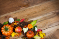 Fall pumpkin, cones, apple and flowers wreath - PhotoDune Item for Sale