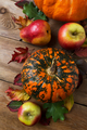 Fall decor with pumpkin, apples and red pear - PhotoDune Item for Sale