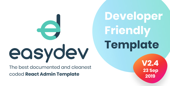 EasyDev — Developer Friendly React Redux BS4 Admin Template + Seed Project