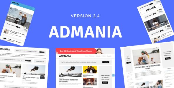 Admania - AD Optimized WordPress Theme