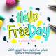 Hello freeday 2 Style font + free Splash - GraphicRiver Item for Sale