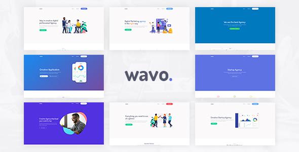 Wavo - Responsive Bootstrap SaaS, Startup & WebApp Template