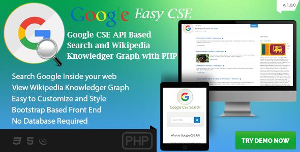 Google CSE Easy Search - Google API PHP Script
