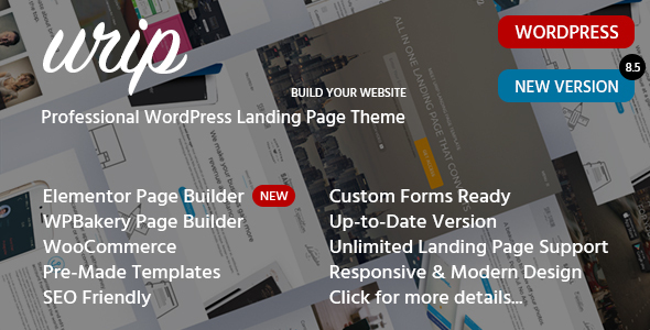 Urip - Marketing Landing Page WordPress Theme