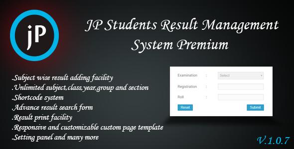 JP Students Result Management System Premium