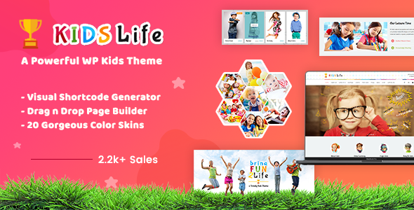 Kids Life | Children School WordPress Theme