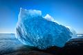 blue iceberg in Jokulsarlon glacier lake, South Iceland - PhotoDune Item for Sale