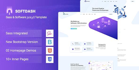 Softdash - Creative SaaS and Software JEKYLL Template