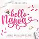 Hello Najwa - Lovely Script Font - GraphicRiver Item for Sale