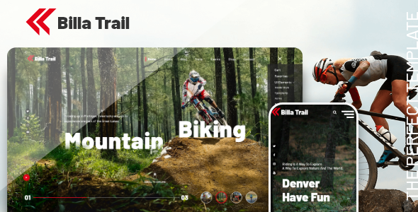 Billatrail - Motorcycle and Bike Rider HTML Template