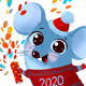 Cheerful Rat Push Confetti Poppers - GraphicRiver Item for Sale