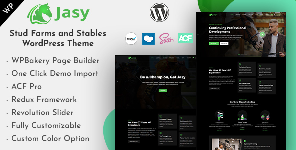 Jasy - Stud Farms and Stables WordPress Theme
