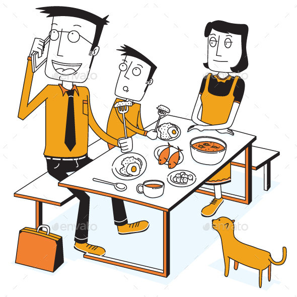 Breakfast with a Busy Father