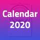 Creative Wall Calendar 2020 - GraphicRiver Item for Sale