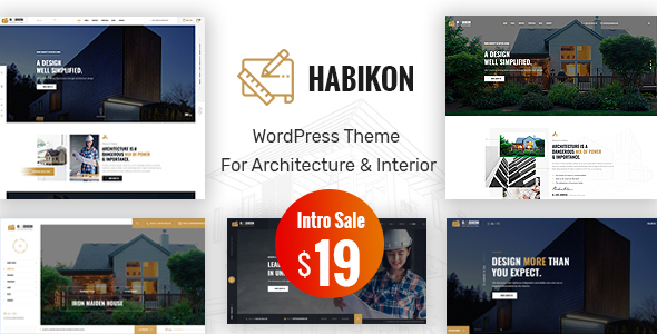 Habikon - Architecture and Interior Design WordPress Theme
