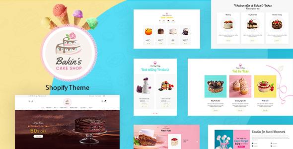 Bakins   Cake Shop, Bakery Shopify Theme