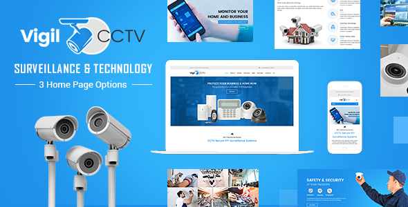 Vigil - CCTV, Security WordPress Theme