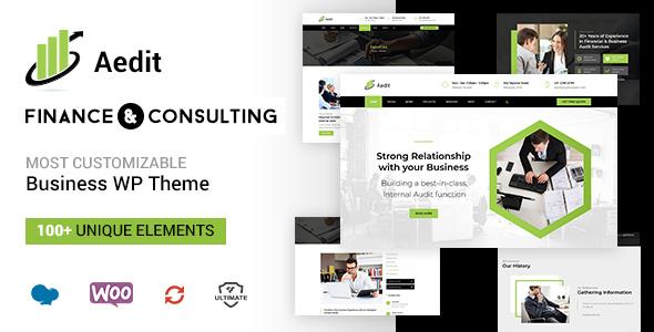 Aedit - Finance Consulting WordPress Theme