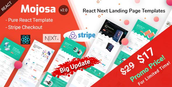 Mojosa - React Next Landing Page Templates