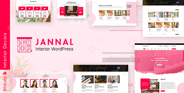 Jannal - Cutrains, Blinds & Interior Decor WordPress Theme