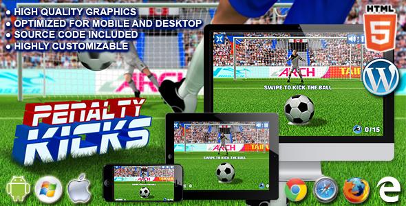 Rzuty karne - gra sportowa HTML5