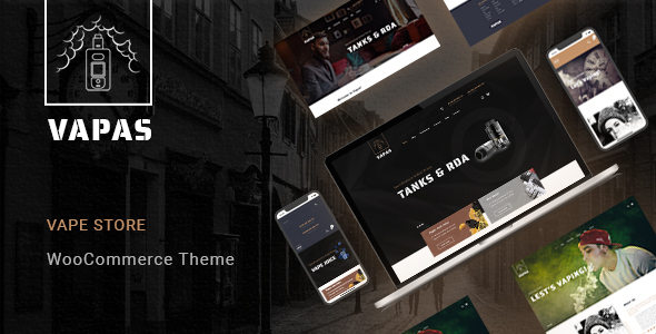 Vapas – Vape Store WooCommerce WordPress Theme