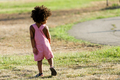 African american baby having fun in the park. - PhotoDune Item for Sale