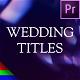 Modern Wedding Titles - Premiere Pro   Mogrt - VideoHive Item for Sale