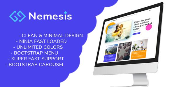 Nemesis   Responsive Minimal Blogger Theme, Gobase64