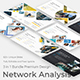 3 in 1 Network Analysis Creative and Business Bundle Pitch Deck Keynote Template - GraphicRiver Item for Sale