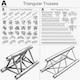 Triangular Trusses Collection - 55 PCS Modular - 3DOcean Item for Sale